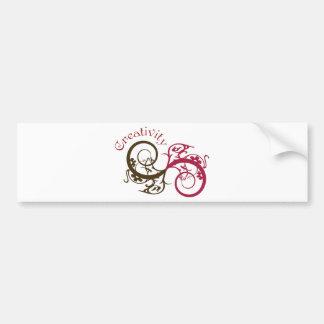 Creativity Swirl Design Bumper Sticker