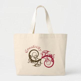 Creativity Swirl Design Canvas Bags