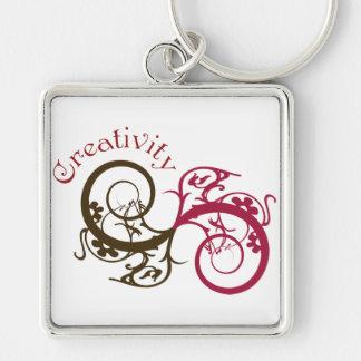 Creativity Swirl Design Key Chains