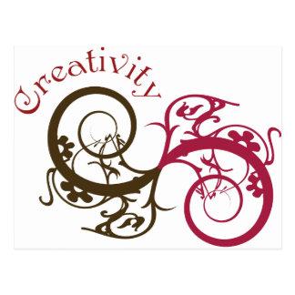 Creativity Swirl Design Postcard