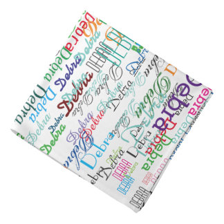creativity with name . a colorful bandanna