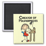 Creator of Masterpieces Tshirts and Gifts Fridge Magnets