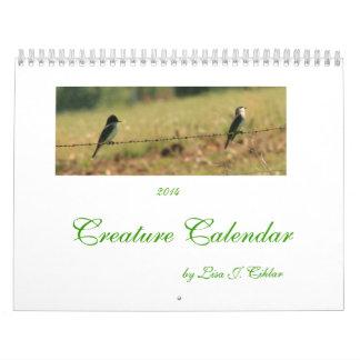 Creature Calendar 2014  beasts and birds