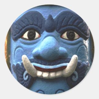 Creature of Thai Folk Story Folklore Round Stickers