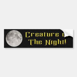 Creature of the Night Bumper Sticker