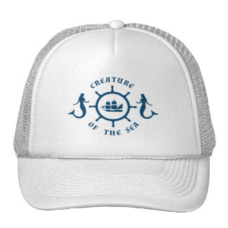 Creature of The Sea Nautical Blazon Cap
