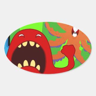 creatures-1614 oval sticker