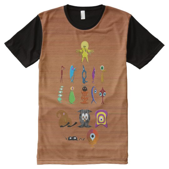 Creatures All-Over Print T-Shirt