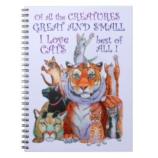 Creatures Great and Small Cat! Notebook