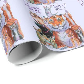 Creatures Great and Small Cat! Wrapping Paper