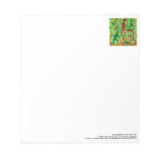 Creatures in the deep forest notepad