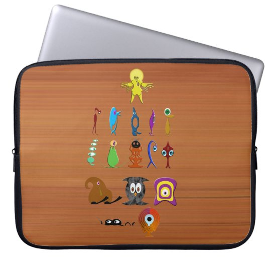Creatures Laptop Computer Sleeve