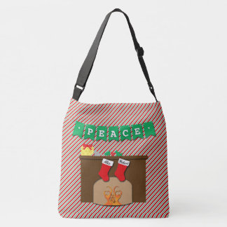 Creatures Stirring • Christmas Eve • 2 Stockings Crossbody Bag