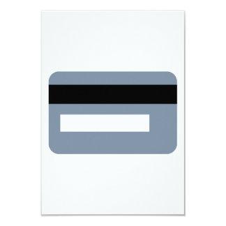 "Credit card 3.5"" x 5"" invitation card"