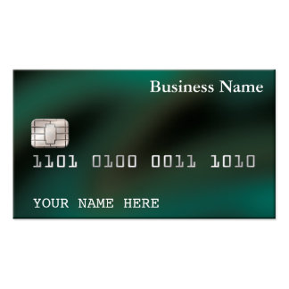 Credit Card style BUSINESS CARD (2-sided) green