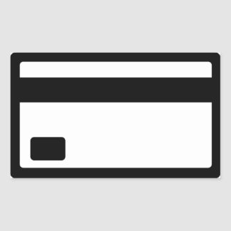 Credit Card Symbol Rectangular Sticker