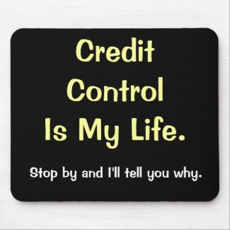 Credit Control Is My Life - Motivational Saying mousepad