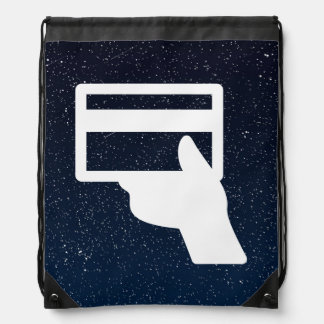 Credit Holders Graphic Drawstring Bags