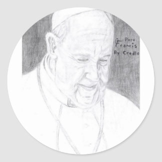 Credle's Pope Francis Products Round Sticker