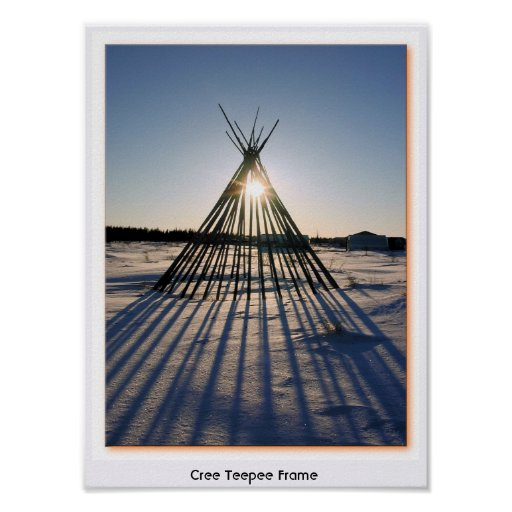 Cree Teepee Frame Poster