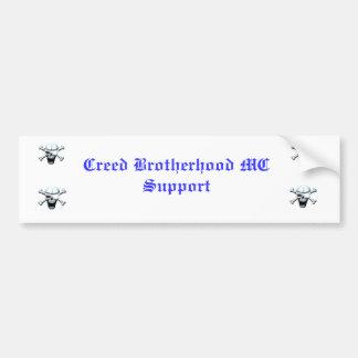 Creed Brotherhood MC Support Bumper Sticker