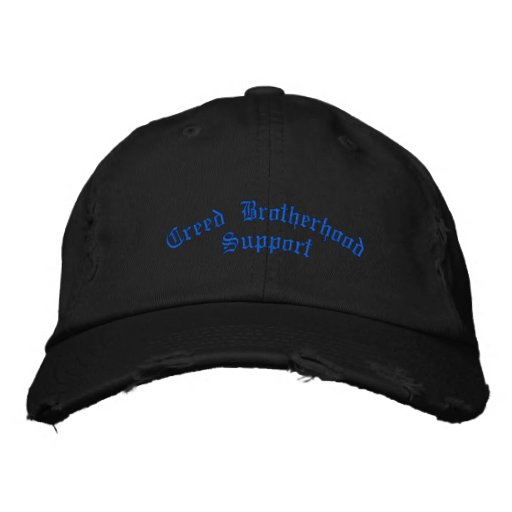Creed Brotherhood MC Support Hat (distressed) Embroidered Baseball Caps