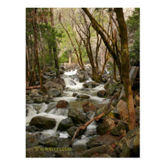 Creek At Bridal Veil Falls, Yosemite Postcard