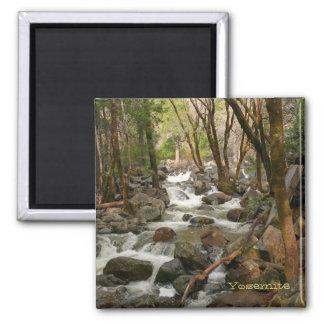 Creek at Bridal Veil Falls, Yosemite Square Magnet