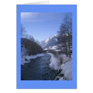 Creek at Grindelwald Switzerland Card