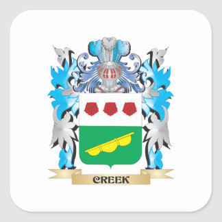 Creek Coat of Arms - Family Crest Sticker