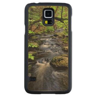 Creek flows through forest maple galaxy s5 slim case