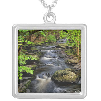 Creek flows through forest custom necklace