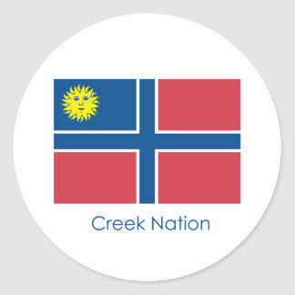 Creek Nation Flag Round Sticker