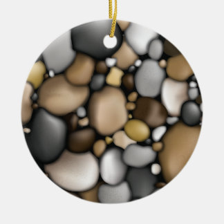 Creek Rocks Texture Christmas Ornament