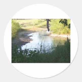 creek round sticker