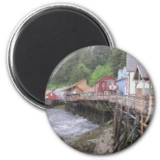 Creek Street Ketchikan, Alaska 6 Cm Round Magnet