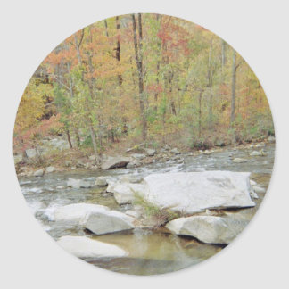 Creek Up In The Mountains Round Sticker