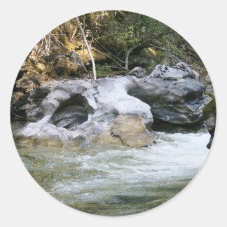 Creeks Round Sticker