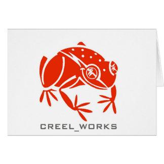 Creel Works Logo 1 copy Greeting Card