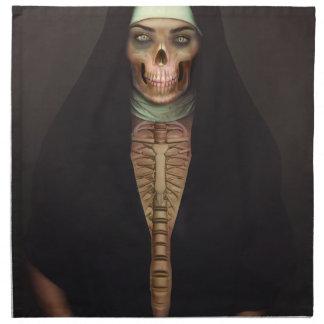 Creep Horror Nun Lady Skull Skeleton Napkin