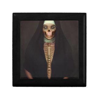 Creep Horror Nun Lady Skull Skeleton Small Square Gift Box
