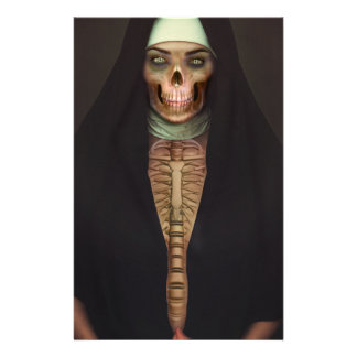 Creep Horror Nun Lady Skull Skeleton Stationery