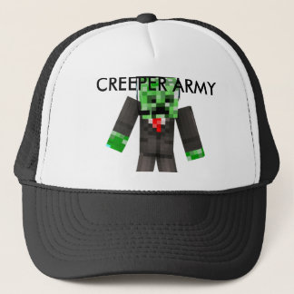 Creeper Army Cap. MegaCreeperTown Trucker Hat