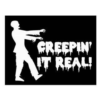 Creepin It Real Funny Zombie Postcards