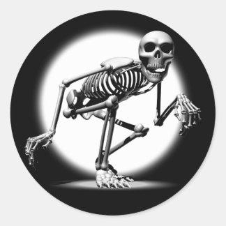 Creeping Skeleton Stickers