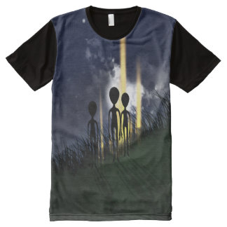 Creepy Alien Abduction All-Over Print T-Shirt