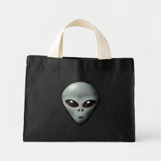 Creepy Alien Mini Tote Bag