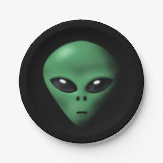 Creepy Alien Paper Plate
