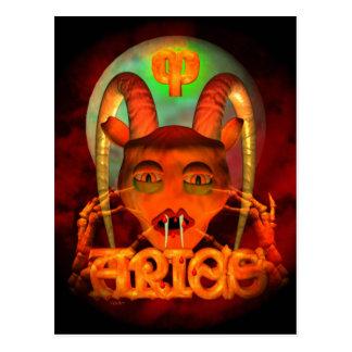 Creepy Aries zodiac horoscope by Valxart Postcards