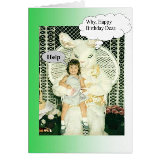 Creepy Birthday Bunny Card